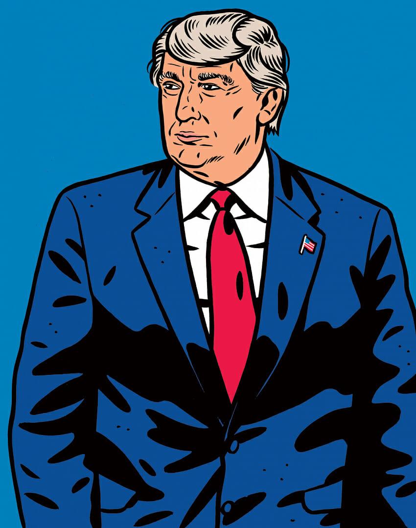 Illustration de Donald Trump