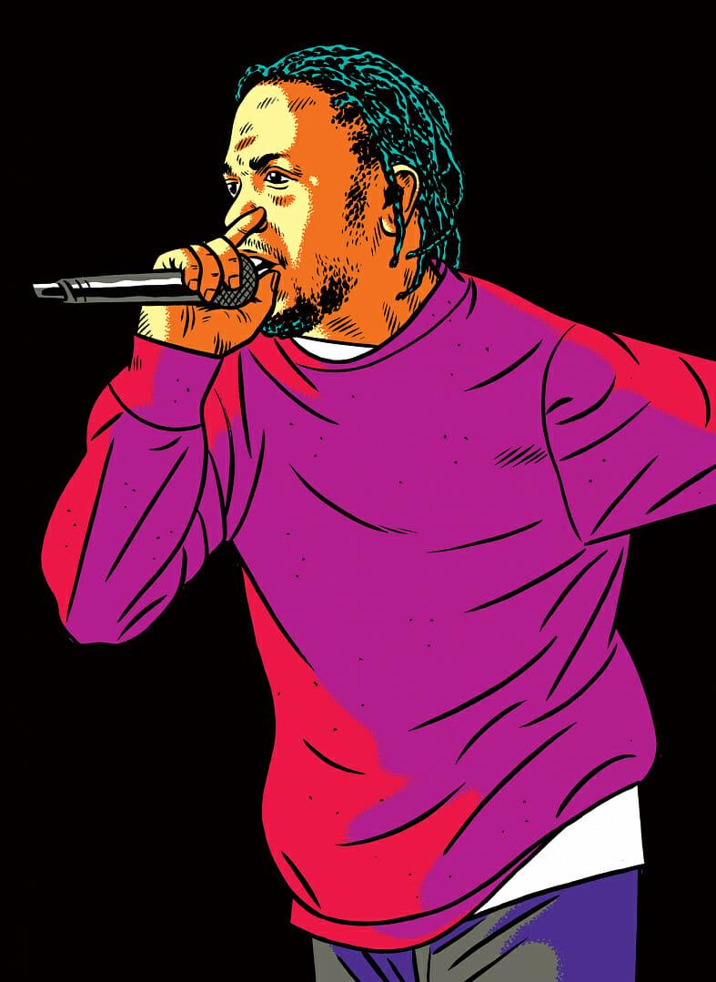 Illustration de Kendrick Lamar