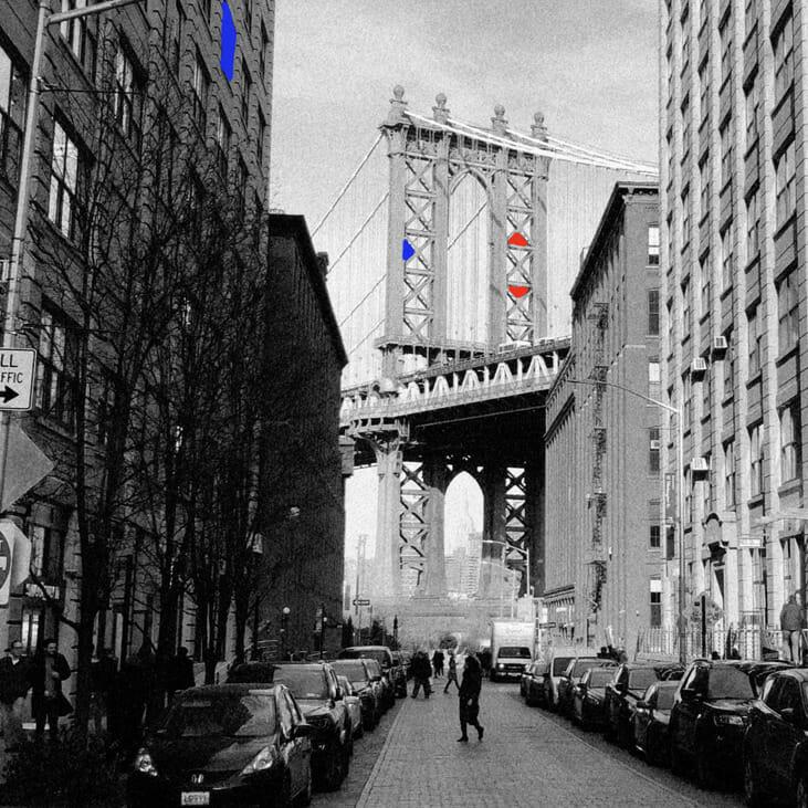 Arrêt sur image de la vidéo One Minute in New York.
