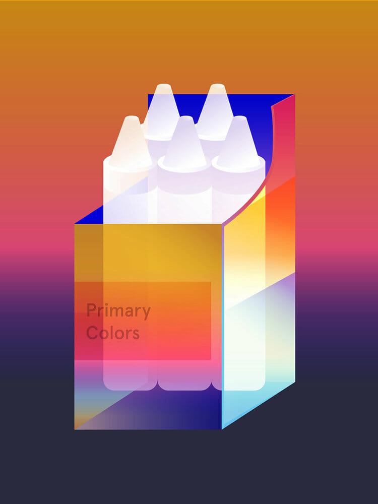 Illustration d'une boîte de crayons blancs par Shawna X.