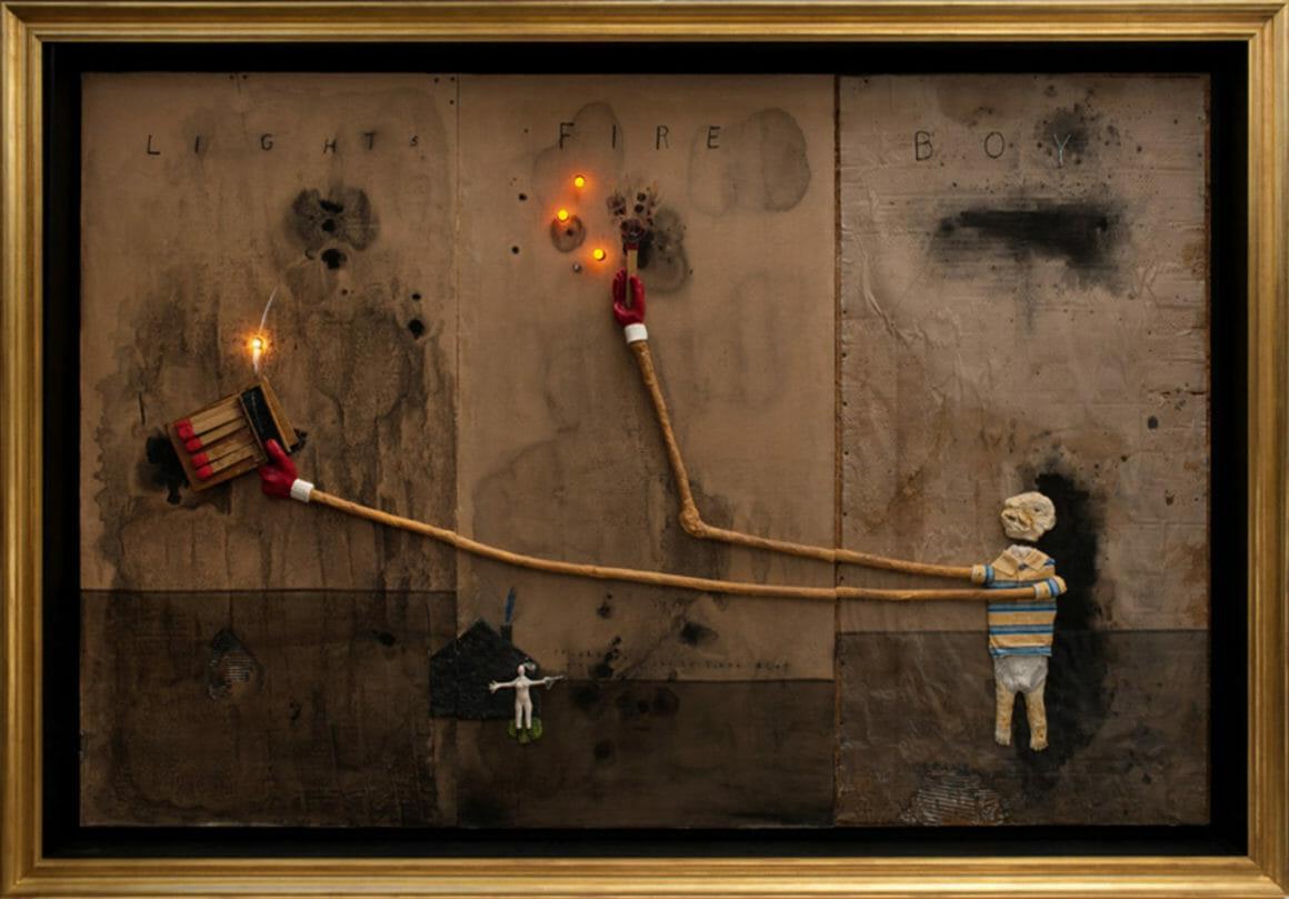 Tableau peint par David Lynch