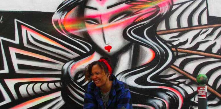 Photographie de la street-artiste Kaldea.