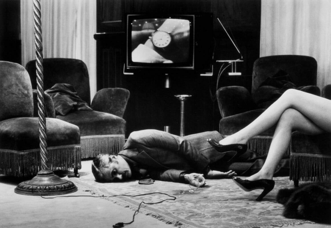 Portrait noir & blanc réalisé par le photographe australien et d'origine allemande Helmut Newton.