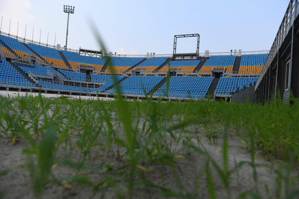 Stade bâti en 2008 pour les Jeux Olympiques de Pékin. AFP/Greg Baker
