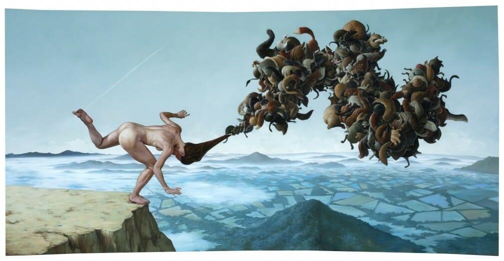 Tableau réalisé par le peintre américain Erik Thor Sandberg et inspiré par le style de Goya