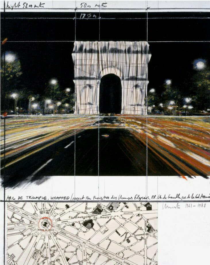 Arc de Triomphe empaqueté : l'œuvre posthume de Christo et Jeanne-Claude a débuté 1