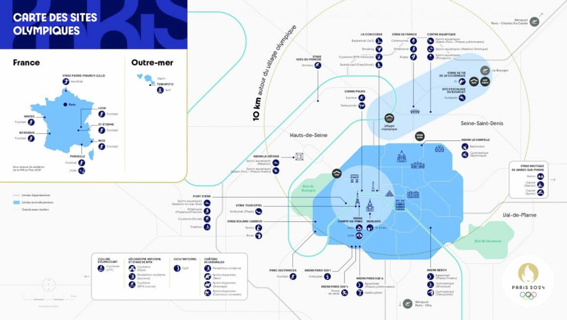 paris 2024  plan des installations