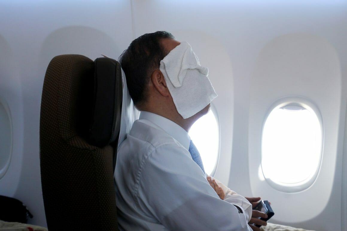 Personne dans un avion, par le photojournalisme Giles Clarke