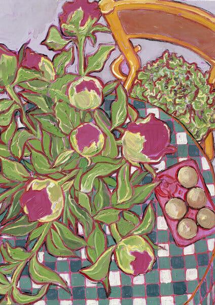Miriam Dema, pivoines roses