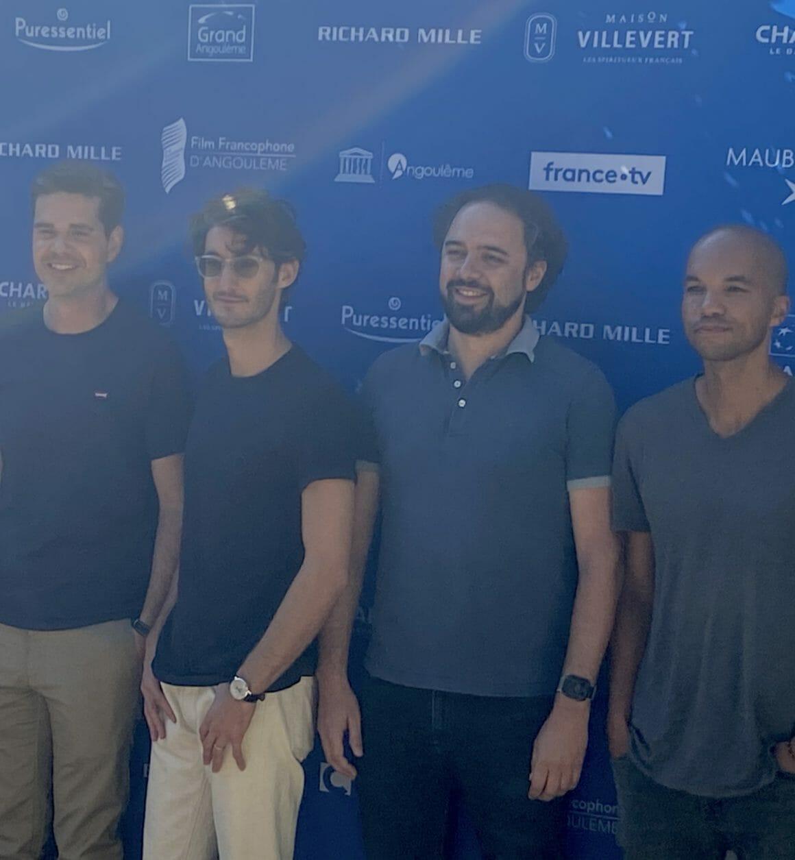 l'équipe du film au festival d'Angouleme