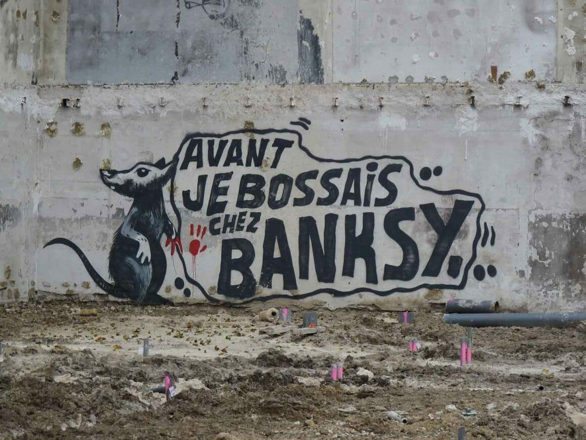 Quand Mygalo 2000 fait un clin d'oeil au rat de Banksy